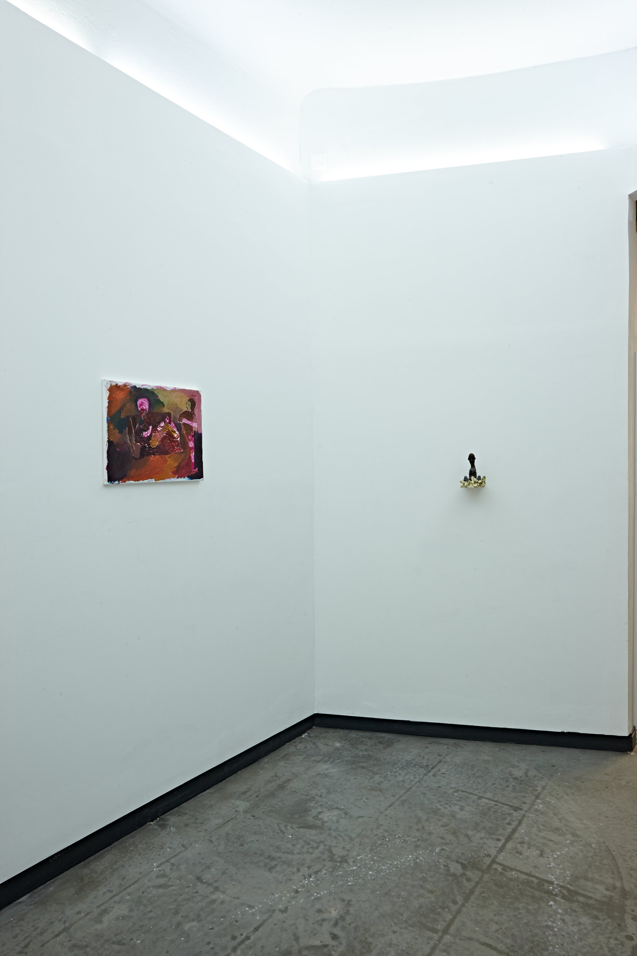 "Ali Altin, Sophia Domagala, Installation views from ""Stupidity Is Not Home"""