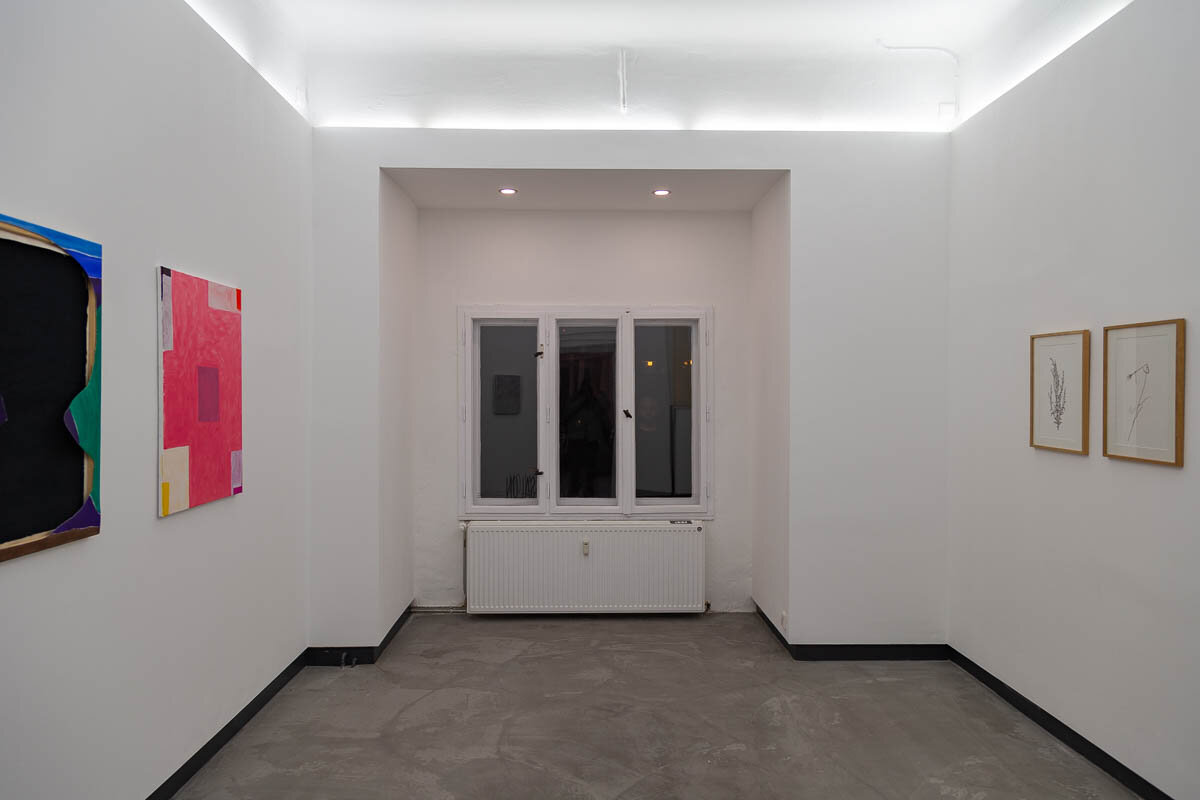 "Lea Pagenkemper, Manfred Peckl, Lawrence Power, Installation views from ""PPP"""