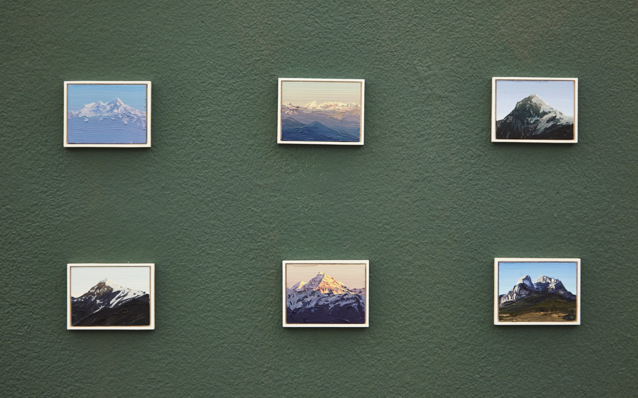"Felix Rehfeld, Installation views from ""540 Berge."""