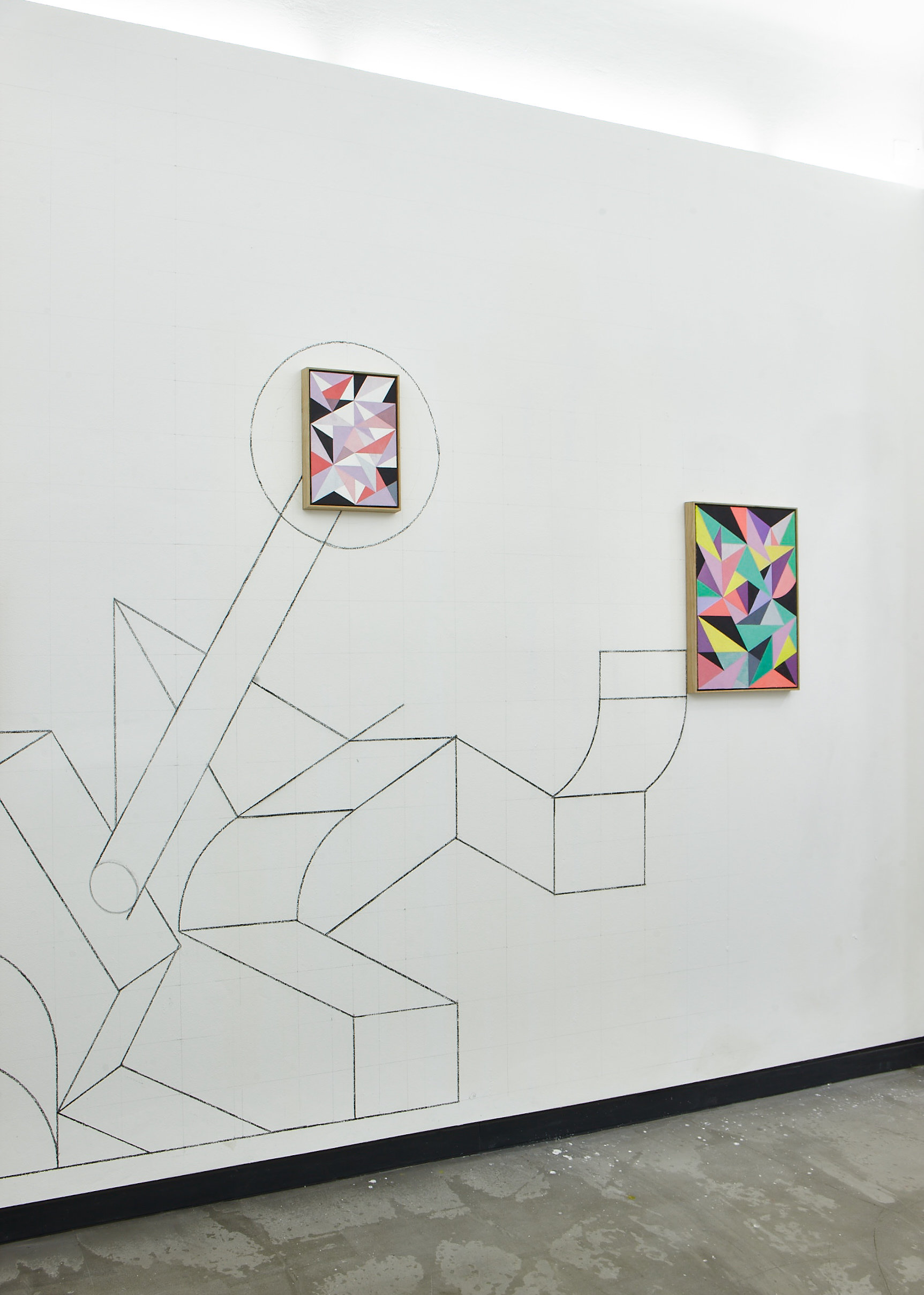 "Michael Conrads, Installation views from ""Superimpositions"""